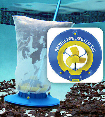 Water Tech Pool Blaster Battery Powered Hoseless Leaf Vac Vacuum Cleaner LVAC100