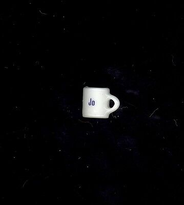 Miniature Coffee Cup Personalized Jo Dollhouse Charm Stocking Stuffer Crafts