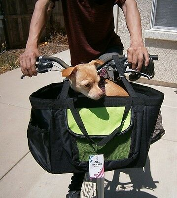 3-in-1 Pet Dog Puppy Bicycle Basket & ...