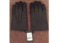 Hugo Boss leather gloves new with tags