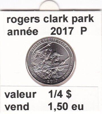 e 2 )pieces de 25 cent  2017 P rogers clark park
