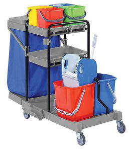 JANITORIAL/CLEANING TROLLEY HOTEL/SCHOOL CLEANER/JANITOR HOUSEKEEPING
