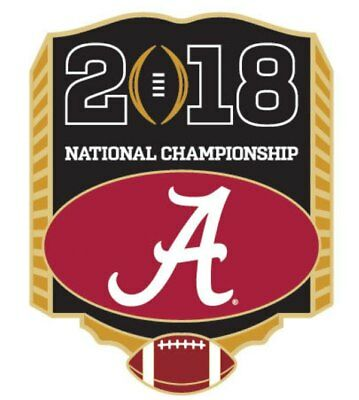 2018 College Football National Championship Game Pin Alabama Crimson Tide