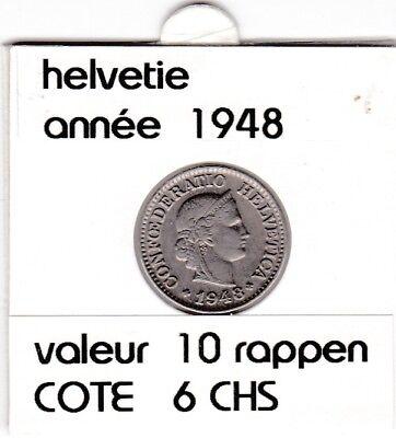 S 1) pieces suisse de 10  rappen de 1948  voir description