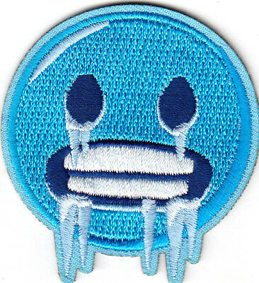 On Emoji ( EMOJI COLD FACE Iron On Embroidered Patch)