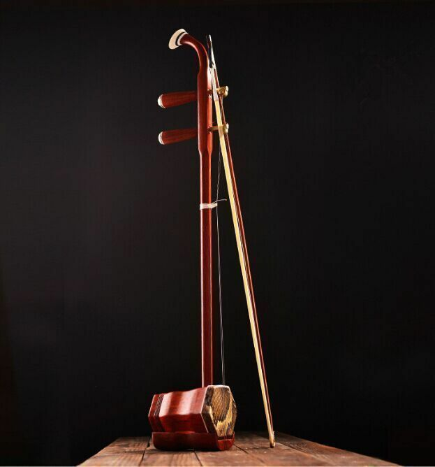 New CHINESE TRADITIONAL Red rosewood erhu instrument + Box