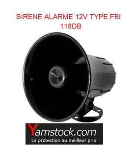 sirene d 39 alarme de police fbi pour voiture 12v type sirene americaine ebay. Black Bedroom Furniture Sets. Home Design Ideas
