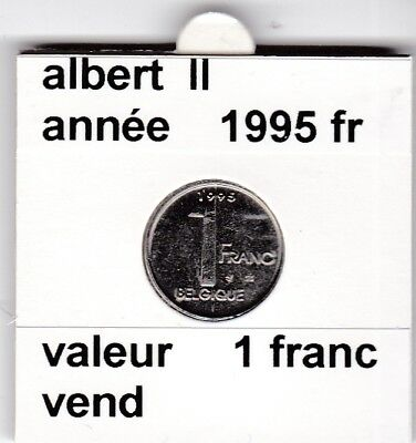 FB 2 )pieces de albert II  1 francs 1995   belgique