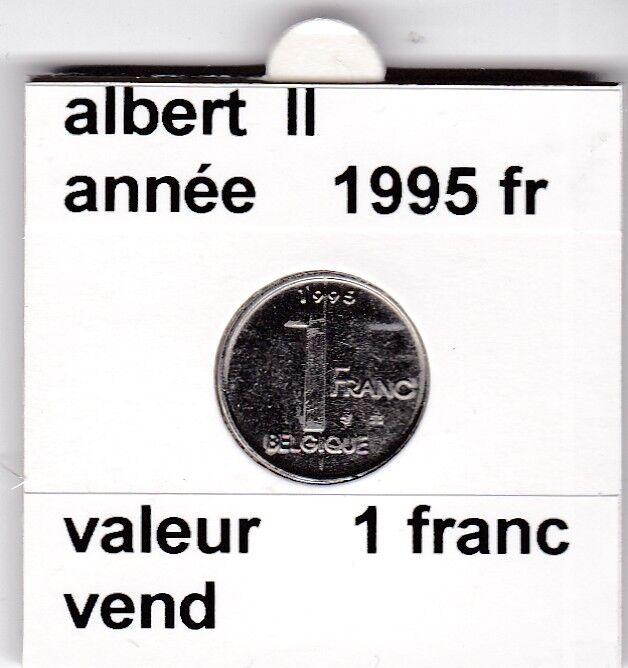 FB 2 )pieces de albert II  1 francs 1995   belgique