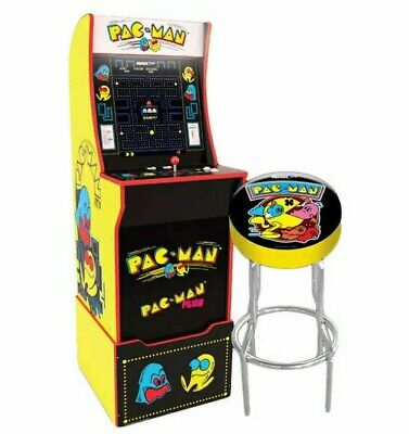 Arcade 1up Pac-Man Pacman New Monitor Riser Stool Light-up Marquee Arcade1up