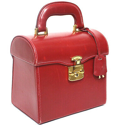GUCCI Lady Lock Vanity Bag Vintage Red #51352 free shipping from Japan