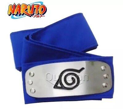 New Naruto Kakashi Sasuke Blue Leaf Village Konoha Ninja Headband Cosplay Anime