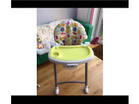 6 position deluxe Gracco highchair - compact - foldable