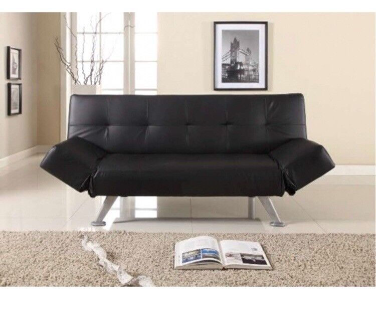 Sofa Bed Black Recliner High Quality Brand New