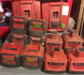 Hilti 14.4v batteries for drills,impacts a joblot of 11