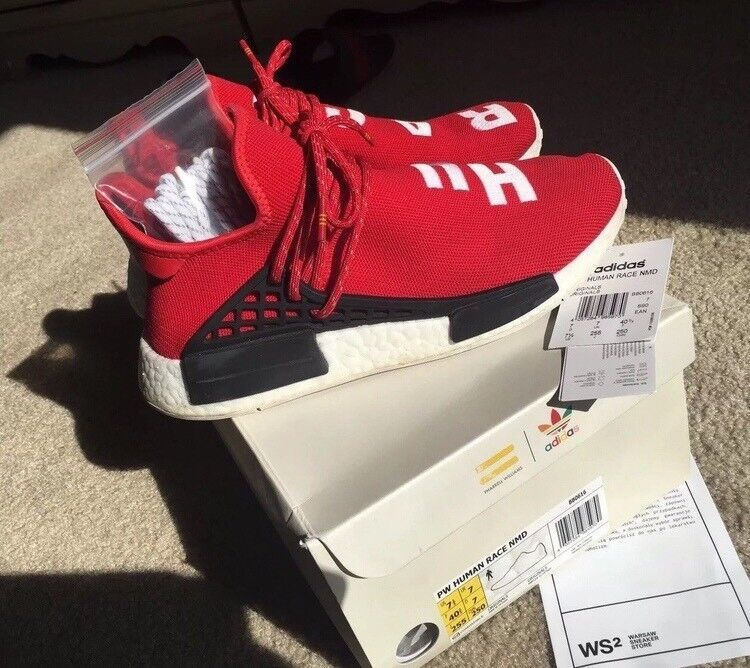 3f87563f1 AUTHENTIC PHARRELL X NMD HU RED SIZE UK 7