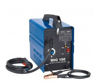 New Mig 100 110v 120v Flux Core Wire No Gas Less Welder Welding Machine 0 Ship