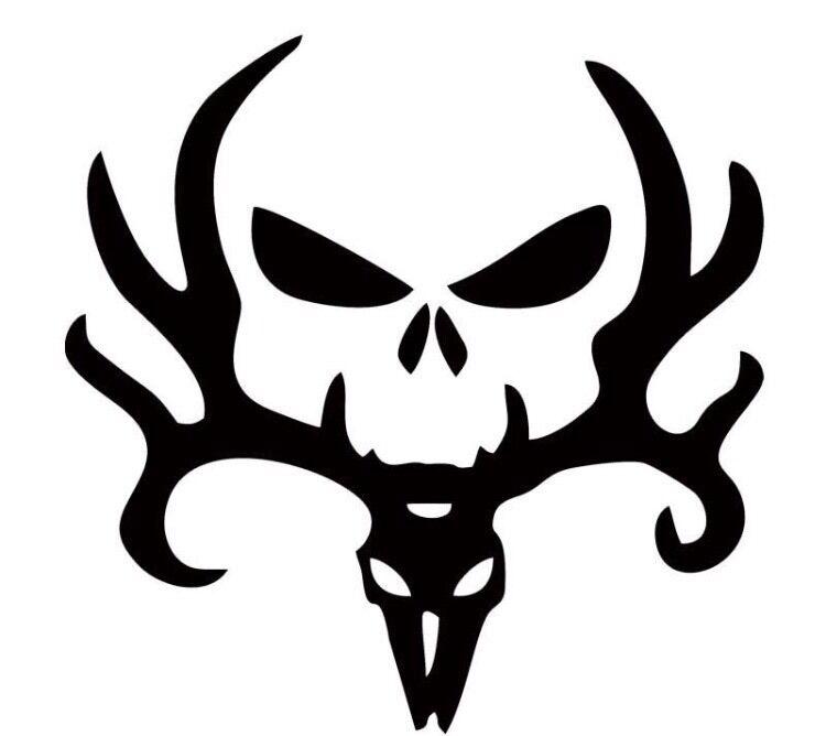 Car sticker skull