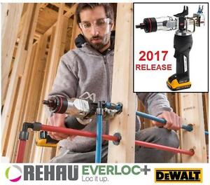 NEW REHAU PEX PIPE FITTING TOOL - 127448259 - EVERLOC+ Power Tool for plumbing installations - 2017 RELEASE