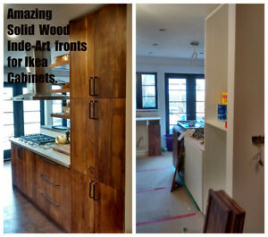 Custom Solid Wood Doors for IKEA Kitchen And Bath Cabinets
