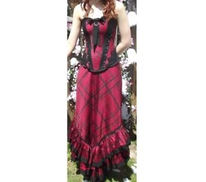 Lip Service Matching Ruby Corset and Skirt Gown, Size Small