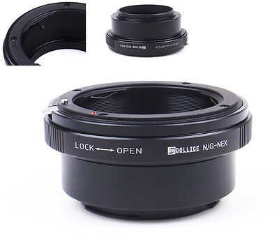 Dollice Nikon F Mount G Lens to Sony E mount NEX Lens Adapter A5100 A6000 A7