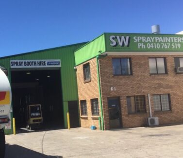 Spray booth hire (HEATED) full down draft Rocklea Brisbane South West Preview