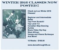 Winter 2016 Dance Classes for Adults - Dance Through Life!