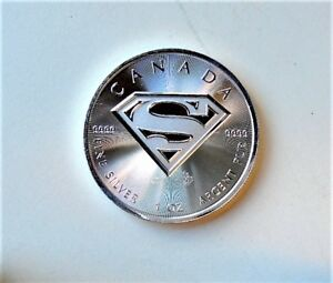 Superman shield 1oz. silver bullion coins