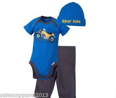 baby boy 3 piece set onesie pants