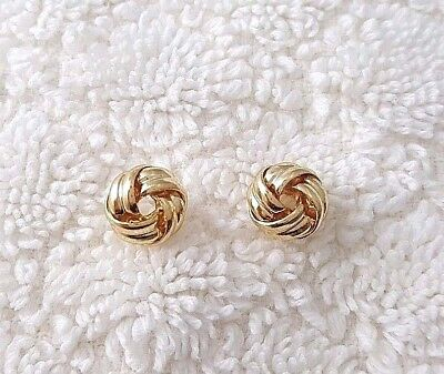 8mm Tiny Small Love Knot Post Stud Earrings # 3