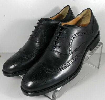 204427 SP50 Men's Shoes Size 9 M Black Leather Lace Up Johnston & Murphy