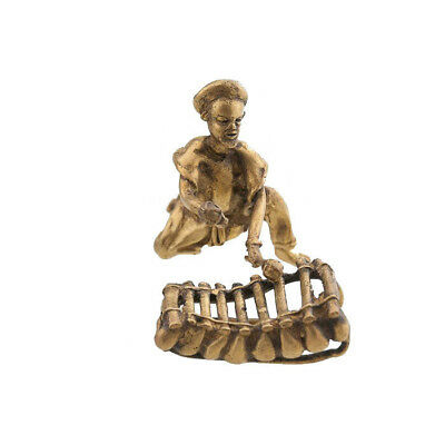 Musician Brass Xylophone Art and Bronze African AA786