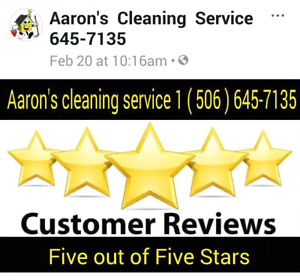 Aaron's Cleaning Service 1(506)645-7135