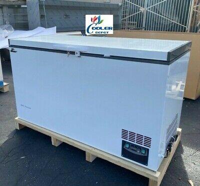 New -60c Sushi Sashimi Seafood Deep Chest Freezer Low Temperature 388l 110v