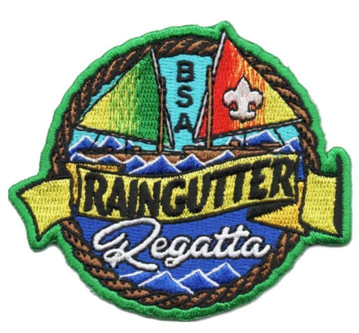 Boy Scouts of America BSA 3 inch RAINGUTTER REGATTA Race Activity Patches NEW