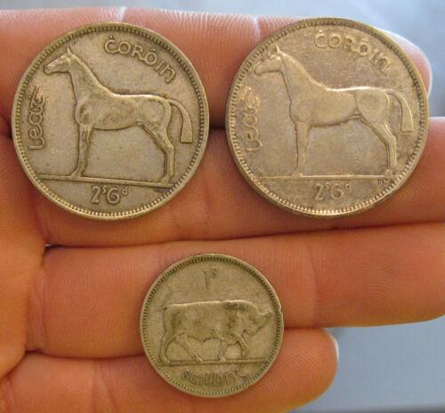 Ireland - (3) Silver Coins (1935-1942) - Nice