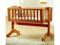 Swinging baby crib cot with mattress