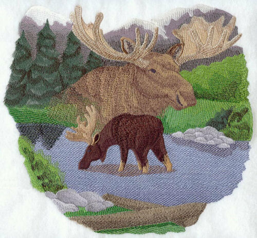 Embroidered Fleece Jacket - Spirit of the Moose J4086 Sizes S - XXL