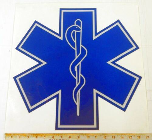Reflective Fire Ambulance Star of Life - 17""