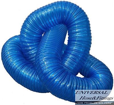 Leaf Vacuum Hose Urethane .045 Lawn Vac 6x4 Blue Leaf Hose Inch Grass