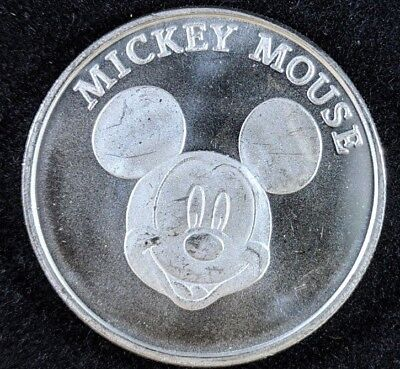 Disney Happy Birthday Mickey Mouse 1 oz Silver Round Collectible Coin Medallion