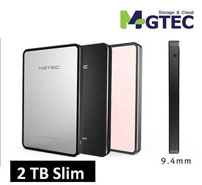 2017 NEW MGTEC TERRAN 3.1 Slim Smart External HDD Portable HardDisk 2 TB USB 3.1