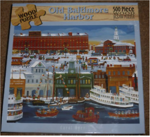 500 Wooden Piece Puzzle Old Baltimore Harbour