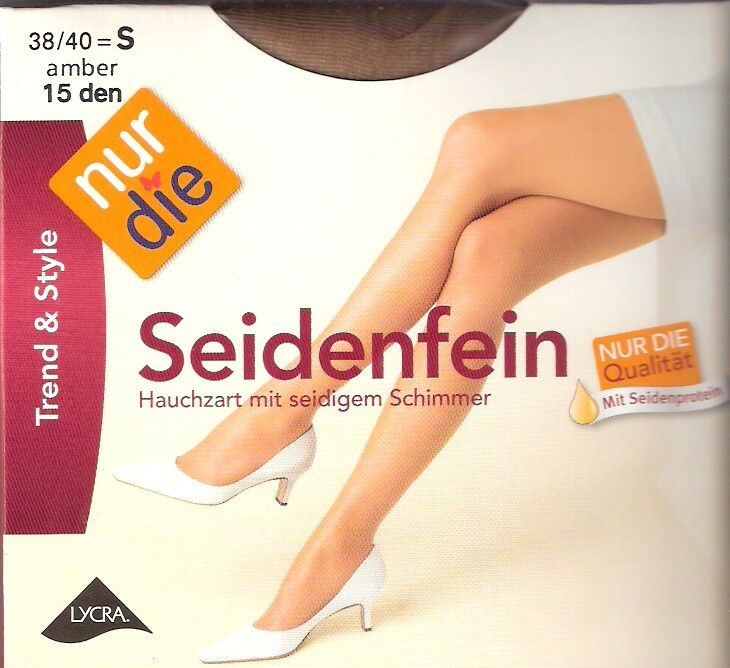 NUR DIE - Seidenfein - Strumpfhose Gr. S - L schwarz, amber, bronze, teint