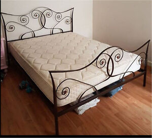 Queen size bed with mattress good condition Brunswick Moreland Area Preview