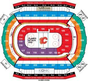 Calgary Flames vs Montreal Canadiens CENTER ICE SEC 211 ROW 19