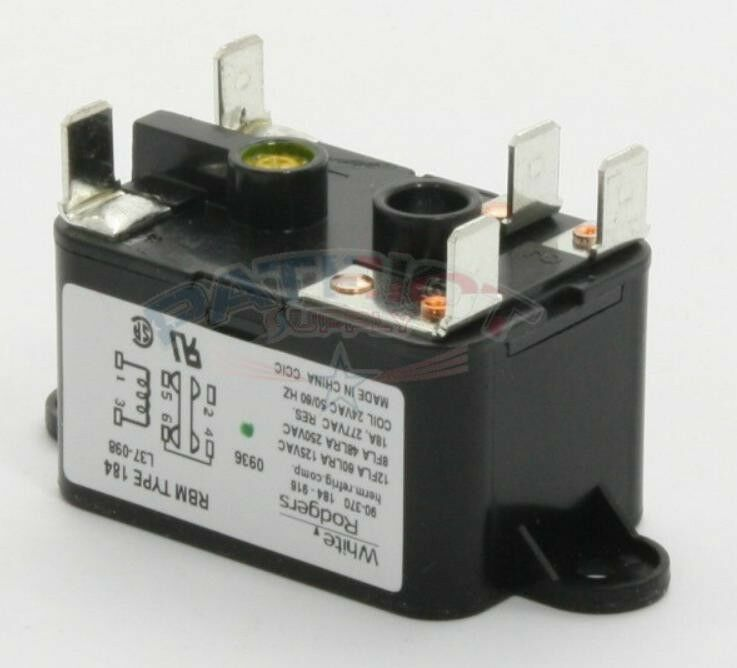 24 Vac WHITE-RODGERS 90-290Q Enclosed Fan Relay