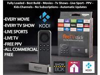 Amazon Fire Tv Stick Fully Loaded Jailbroken Kodi 16.1 - Movies - Tv Shows – Sports - PPV