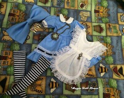 Handmade Blythe Doll Dress # Blue Alice Dress Set Fit Blythe Azone Doll